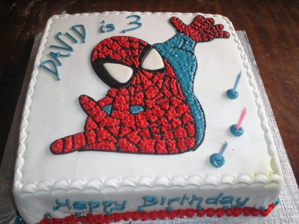Spiderman cake2 (B076)